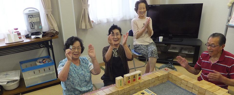 気仙沼 仮設住宅でのコミュニティ麻雀