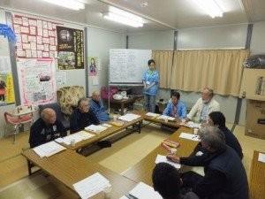【唐桑地区仮設住宅代表者交流会についての意見交換会】を行いました!