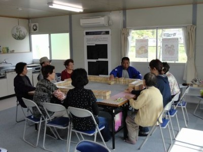 コミュニケーション麻雀@条南中学校仮設住宅 with KRA福祉部
