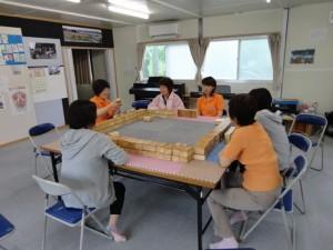 コミュニケーション麻雀@小泉中学校仮設住宅
