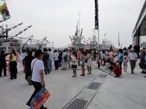 秋刀魚漁船出航式(2013年初)@気仙沼市魚市場南桟橋