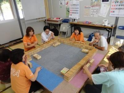 コミュニケーション麻雀@旧小泉中学校跡地仮設住宅 with KRA福祉部